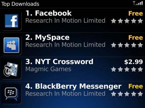 Blackberry Announces Their App World in Las Vegas