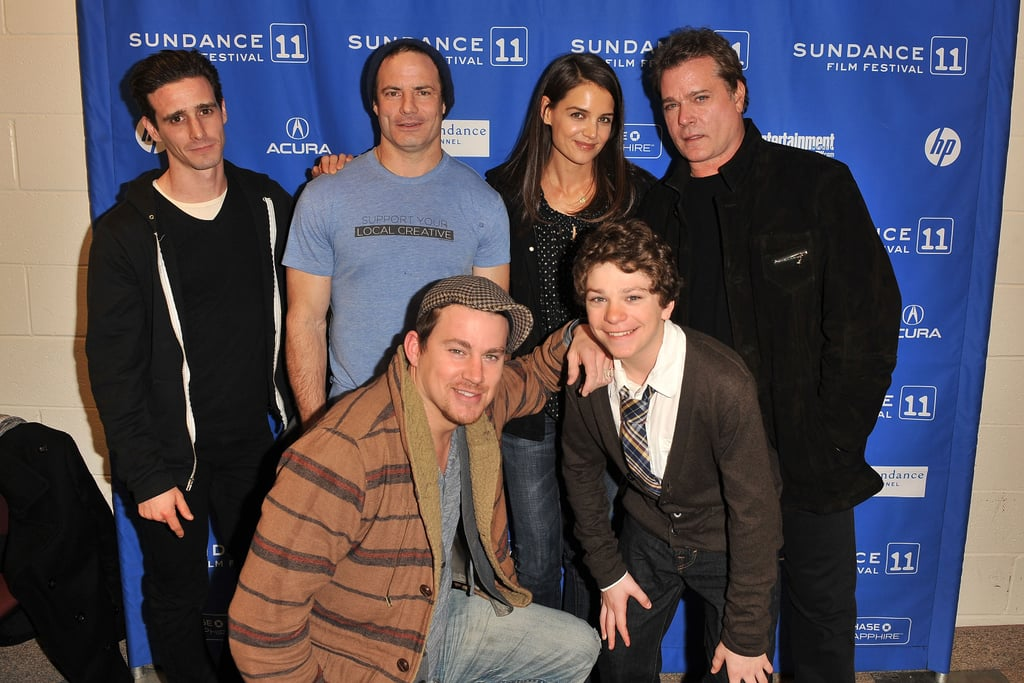 Katie Holmes and Channing Tatum posed with their costars Ray Loitta, Jake Cherry, and James Ransone at the premiere of The Son Of No One at Sundance Friday. Their movie closed out the star-studded festival and we enjoyed the gritty crime thriller. Katie is coming from LA where she shared her well wishes about friend Victoria Beckham's pregnancy and took care of business with Suri after visiting Tom Cruise in Vancouver. It's the second year in a row that Katie has been at the festival since she brought The Romantics in 2010.