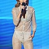 Gigi's Sheer Silver Atelier Versace Jumpsuit