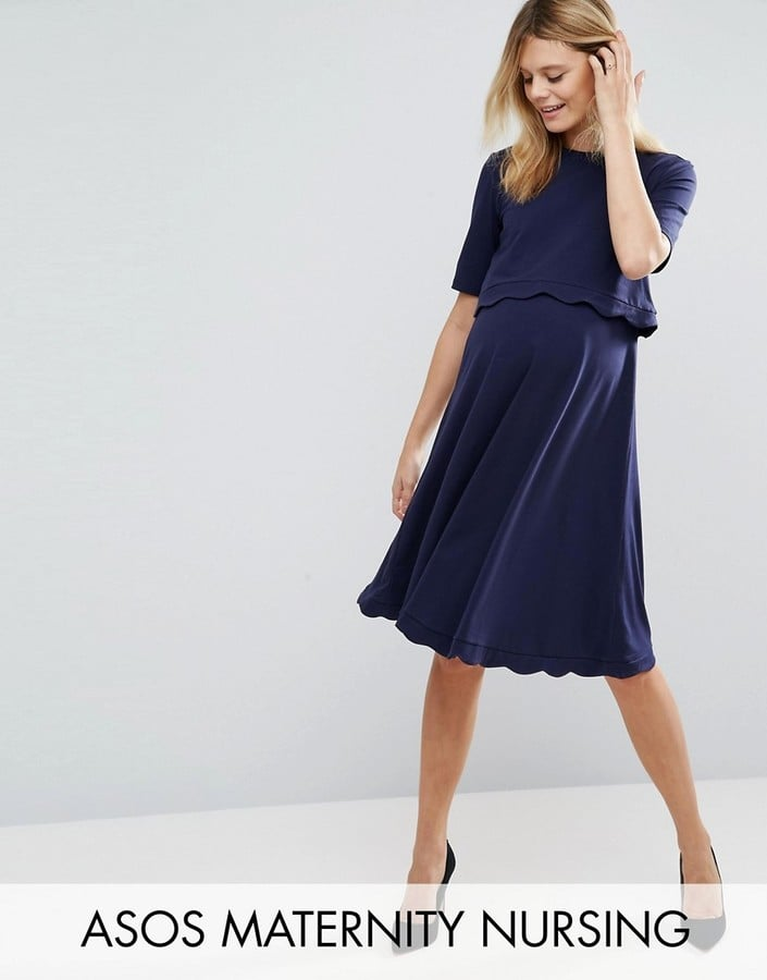 12d05b71c1ab6 ASOS Scallop Dress with Short Sleeve | Maternity Clothes That You ...