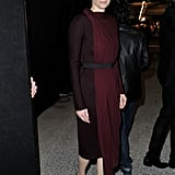 Tilda Swinton donned a two-toned Lanvin frock for the brand's A/W '12 show.