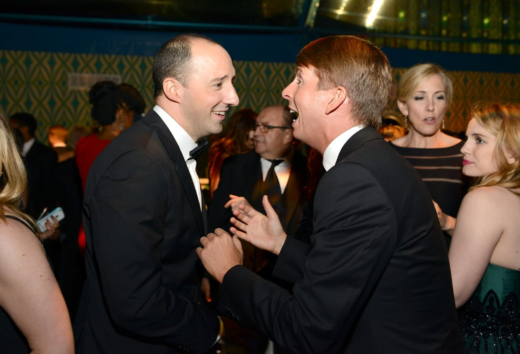 Tony Hale chatted with Jack McBrayer at the 2013 HBO Emmys after party.