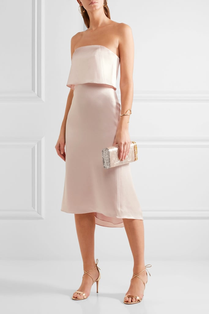Halston Layered Satin Dress