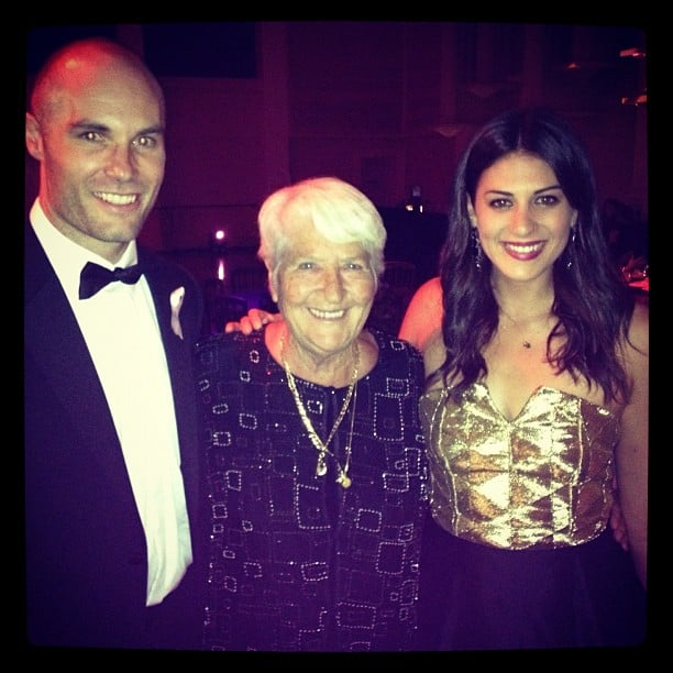 Stephanie Rice hung out with her idol, legendary swimmer Dawn Fraser, and Tom Harley. Source: Instagram user itsstephrice