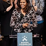 She Delivered a Speech at the School Counselor of the Year Ceremony in Washington DC