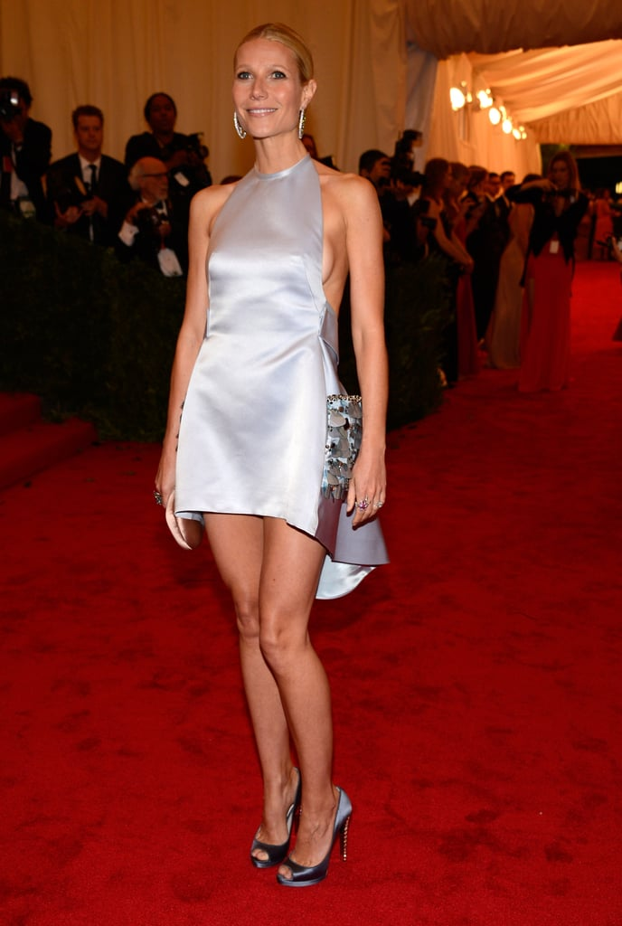 """Gwyneth Paltrow hit the red carpet at this evening's Met Gala in NYC decked out in a design from Prada. She revealed the designer of the frock at last night's party for The Conversation with Amanda de Cadenet, held at Diane von Furstenberg's Meatpacking District flagship store. As of yesterday, though, Gwyneth hadn't seen designer Miuccia Prada's creation. She said at the DVF bash, """"I'm wearing Prada . . . I haven't seen the dress or anything.""""  It's been a big year for Gwyneth and her red-carpet ensembles. She was your pick for best dressed at the 2012 Oscars thanks to her caped Tom Ford creation. How do you think Gwyneth's look today compares? Let us know in the comments below!"""