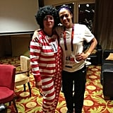 US women's soccer player Sydney Leroux's mom showed off her spirit.  Source: Twitter user sydneyleroux