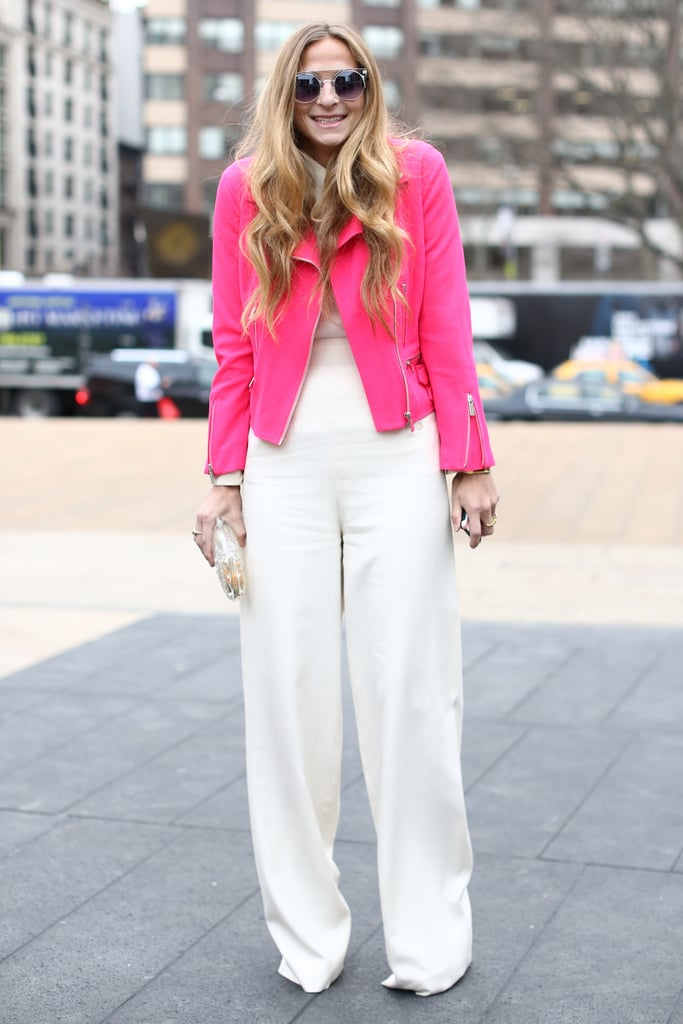 Spring came early on this bright bit of street style.