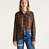 Pull & Bear Checked Shirt with Elasticated Collar (£23)