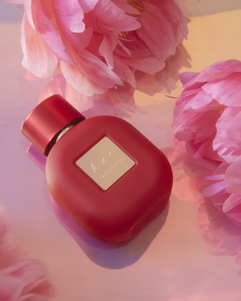 """With the intention to be gender-neutral, Hue strikes the balance between fruity floral and musky notes. It was two years in the making, and as a known advocate for the LGBTQ+ community, Kiyoko's main goal when developing the perfume was to create something that was an extension of her place in the community while signifying """"the variety of hues amongst every individual."""" """"I really focused on trying to balance the feminine and masculine notes because that has been a massive part of my self-discovery and journey as a human being and feeling confident in the fact that sometimes I feel more masculine and sometimes I feel more feminine,"""" she said. """"I think it's really important to highlight that and to know that it's OK to want to be both and to kind of balance the fact that we're ever-changing and we evolve just like the world does."""""""