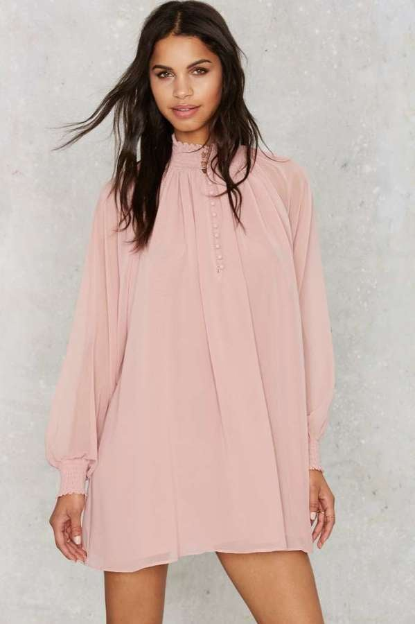 Nasty Gal Winnie Bell Sleeve Dress ($98) | Affordable Dresses to ...