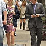 Photos of Blake, Leighton and Ed on Set