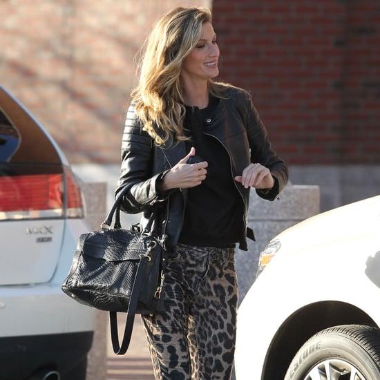 Gisele Bundchen Wearing Leopard-Print Jeans