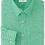 Uniqlo Men Premium Linen Long-Sleeve