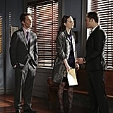 Desmond Harrington as Jack, Leighton Meester as Blair, and Ed Westwick as Chuck on Gossip Girl.