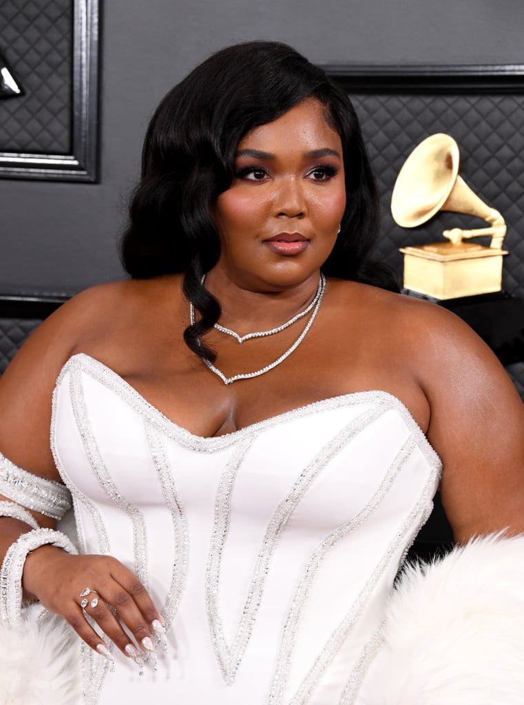 Lizzo's White Diamond Nail Art at the Grammys 2020