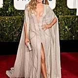 Jennifer Lopez Wearing Zuhair Murad to the 2015 Golden Globe Awards