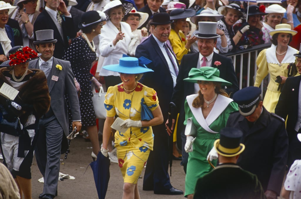 Diana and Fergie always found time to joke around and have a bit of naughty fun with each other while at royal events. At the Royal Ascot races in 1987, they were famously caught on camera laughing while poking well-dressed guests in the behinds with their umbrellas.
