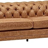 Stone & Beam Bradbury Chesterfield Modern Tufted Leather Couch