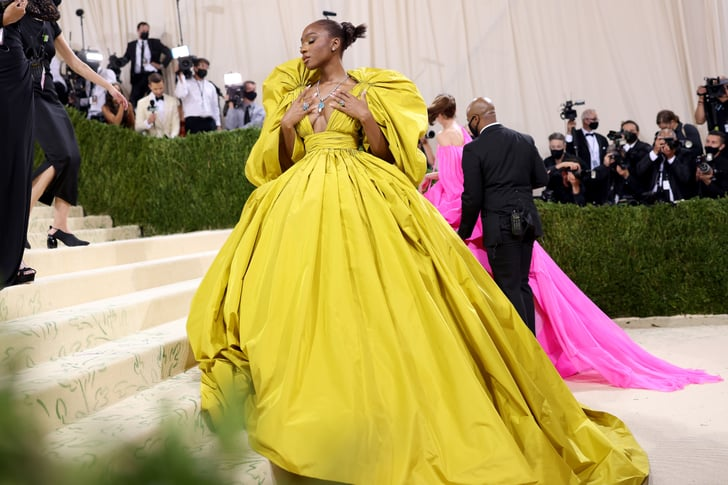Normani's Bright Yellow Valentino Gown at the 2021 Met Gala | POPSUGAR Fashion