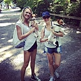 Candice Swanepoel and her girlfriend had an upstate New York adventure with their cute pups. Source: Instagram user angelcandices
