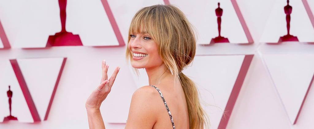 Margot Robbie's Bangs and Dark Blond Hair Color Oscars 2021