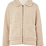 Native Youth Patch Pocket Teddy Coat