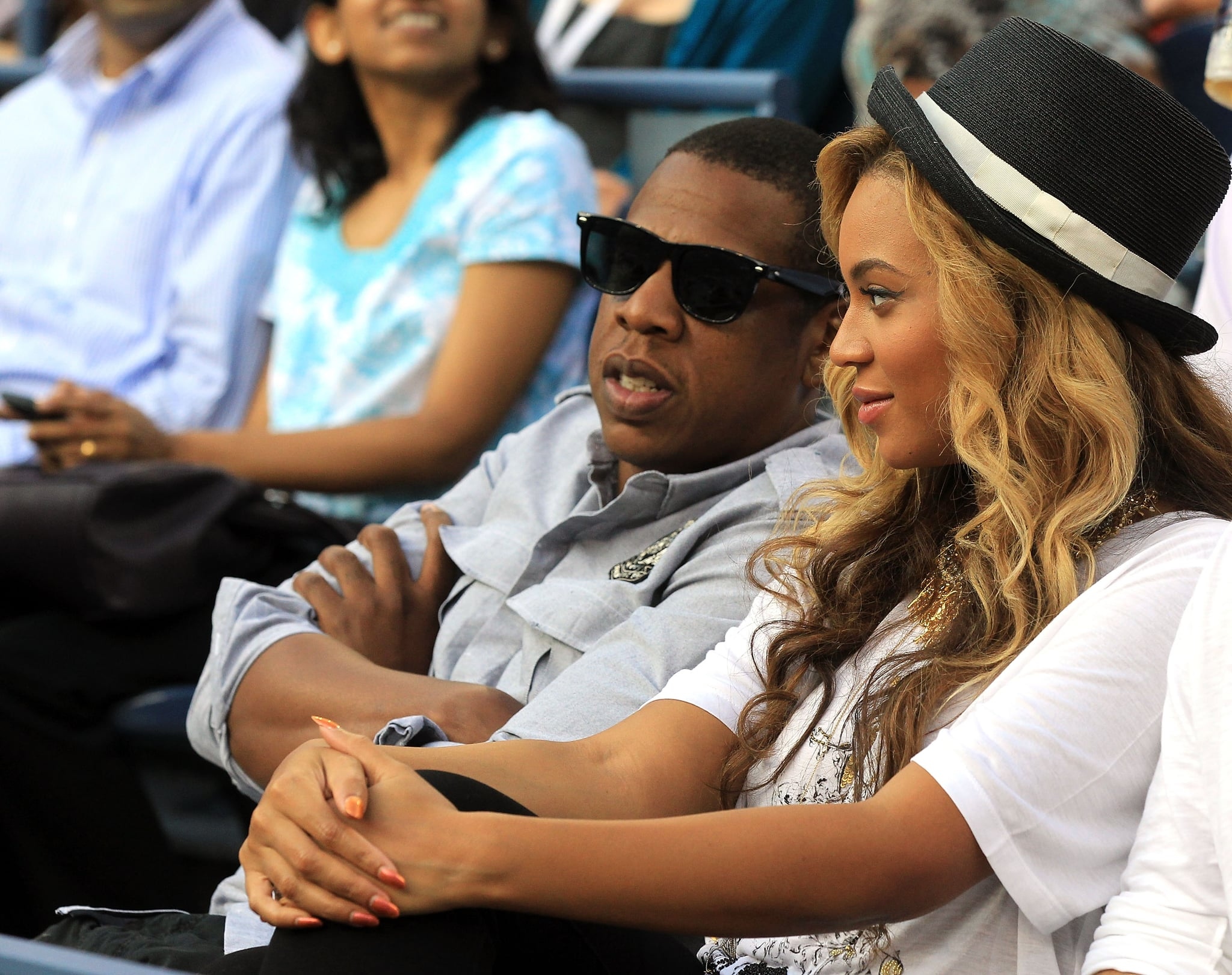 Expecting parents Jay-Z and Beyoncé Knowles.