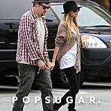 Nicole Richie and Joel Madden held hands during a January 2009 shopping trip in LA.