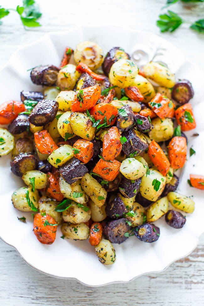 Herb-Roasted Tri-Color Carrots