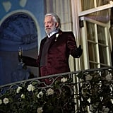 Donald Sutherland as President Snow in Catching Fire.