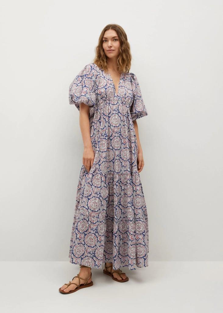 For an Eye-catching Print: Mango Printed Maxi Dress