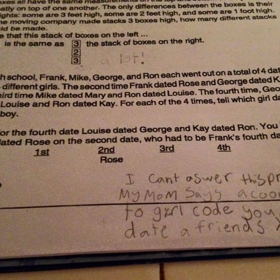 Girl Code Trumps Common Core Math Homework