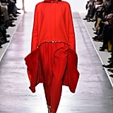 "Giambattista Valli got in on the trend and created this all-red look that's lined with fur. It might be a little too ""fashion"" for Father Christmas, but it'd certainly keep him warm."