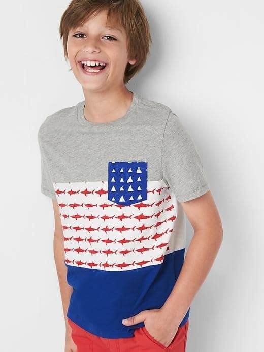 Americana Shark Pocket Tee