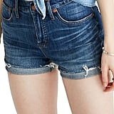 Madewell High Rise Cuffed Denim Shorts