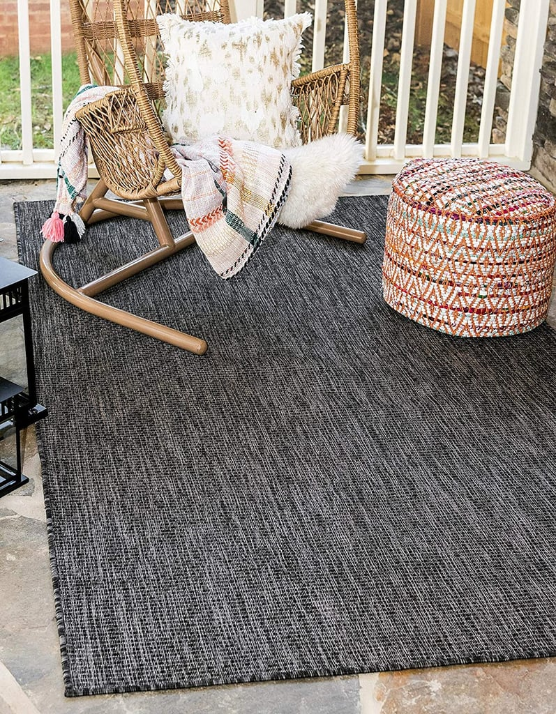 Unique Loom Outdoor Solid Collection Casual Transitional Indoor and Outdoor Flatweave Area Rug