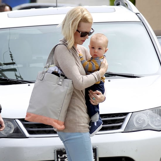 January Jones Leaving Doctor's Office With Xander Pictures