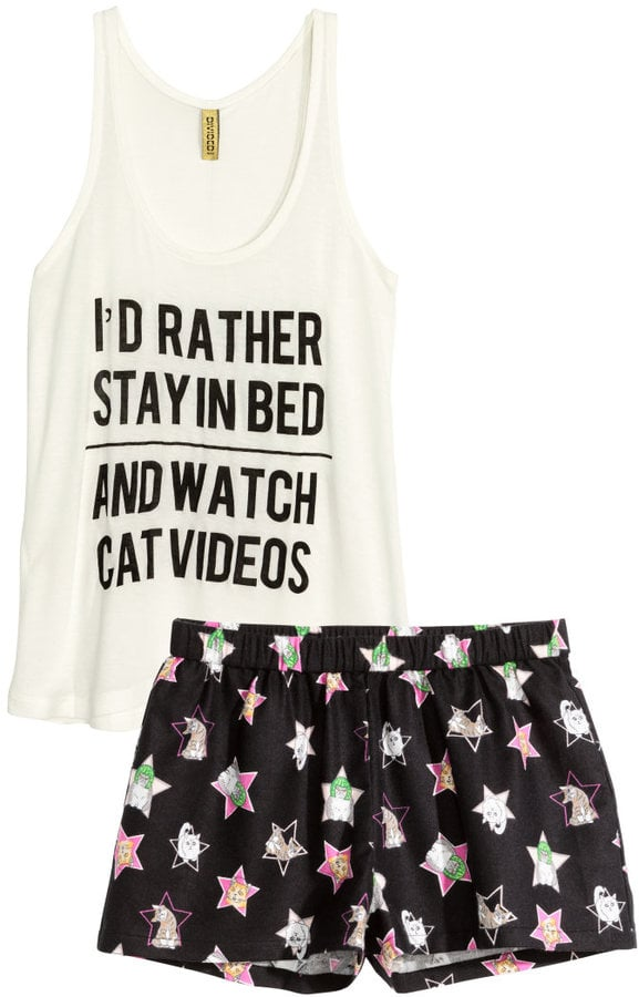 H&M Pajama Top and Shorts ($18)