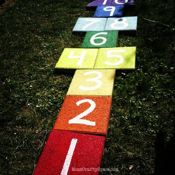 Build a Rainbow Hopscotch