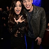 Rumored couple Camila Cabello and Shawn Mendes got silly backstage.