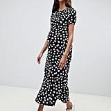 ASOS Design Maternity Maxi Tea Dress in Polka Dot