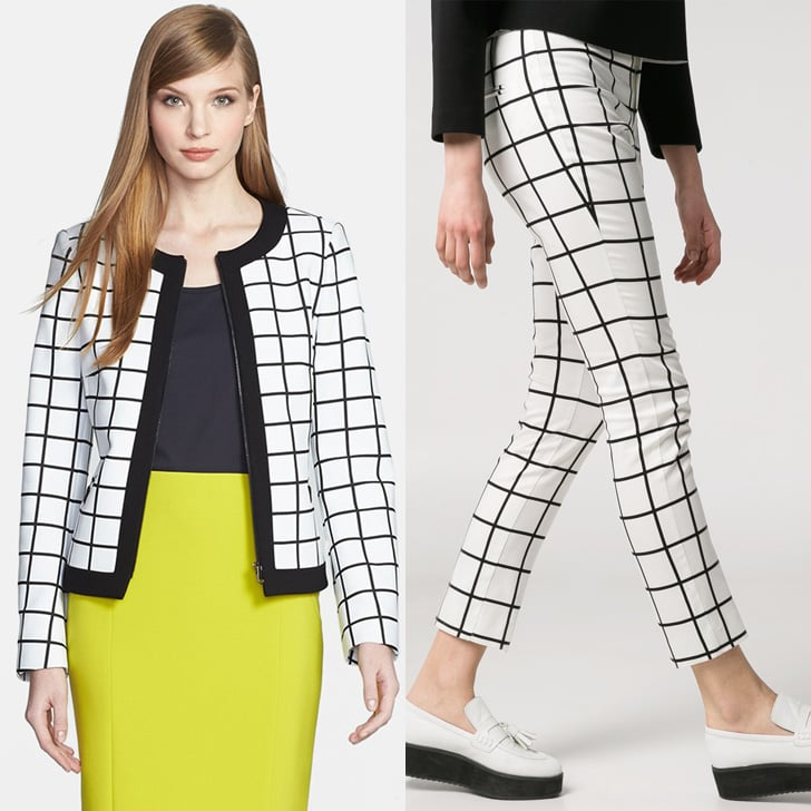 Black and White Windowpane Jacket and Pants