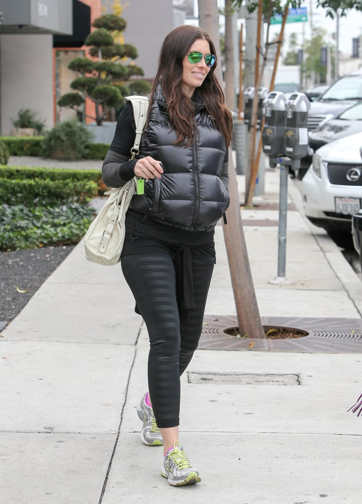 Jessica Biel previously tried to hide her pregnancy using baggy clothes and puffer vests, but you didn't have us fooled, Jessica. We knew the world's cutest baby was in there somewhere!