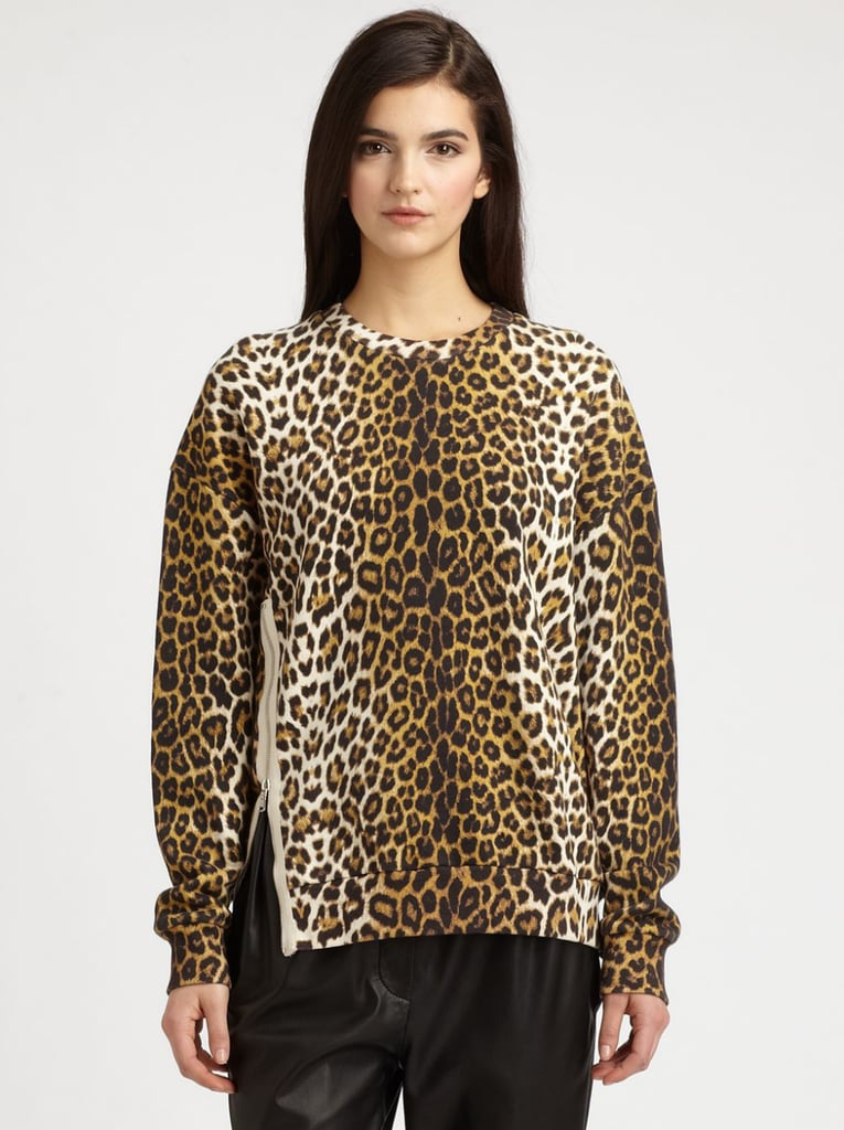 If you aren't already a leopard spot lover, we're willing to bet this boxy 3.1 Phillip Lim sweatshirt ($475) is ready and willing to convert you.