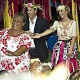 Kate Middleton and Prince William danced together in Tuvalu.