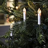 Flameless Candle String Lights with Tree Clips