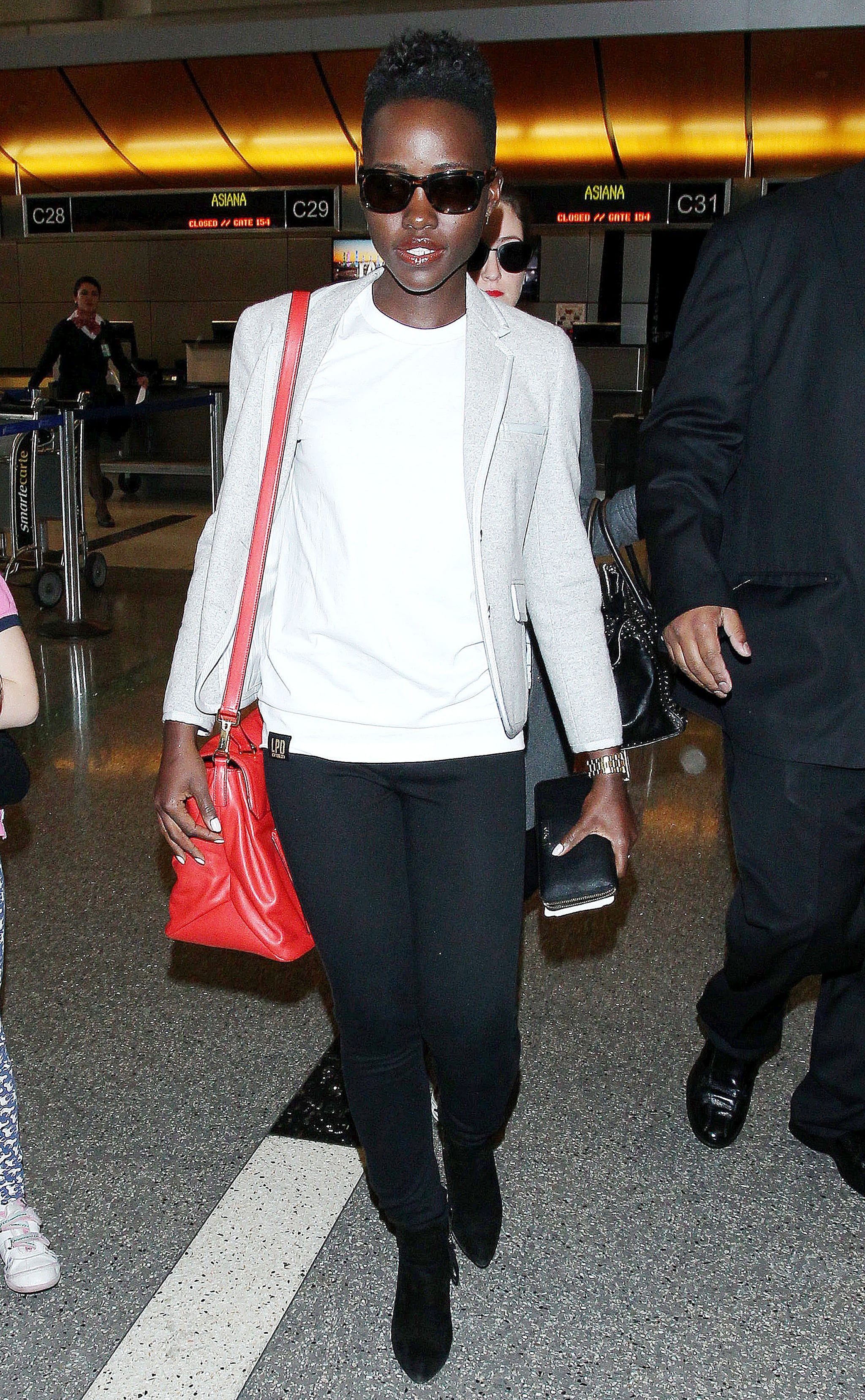 Lupita Nyong'o at LAX Airport