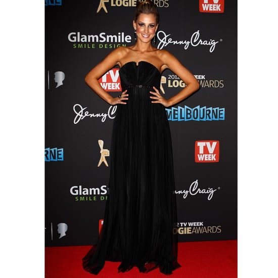 Pictures of Laura Dundovic on the 2012 Logies Red Carpet in Matthew Eager Pleated Dress: Rate It or Hate It?