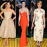 See who wore what to the Oz the Great and Powerful movie premiere.